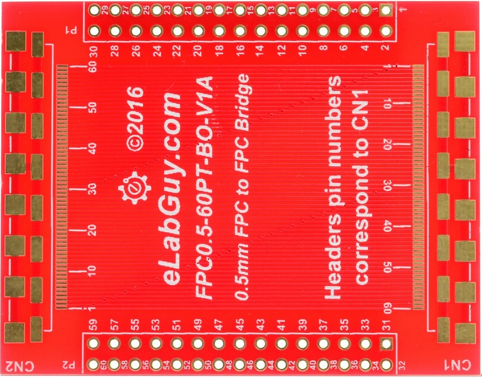 0.5mm 60 pin FPC to FPC bridge pass through breakout board