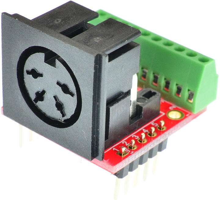Din 4 Female connector Breakout Board