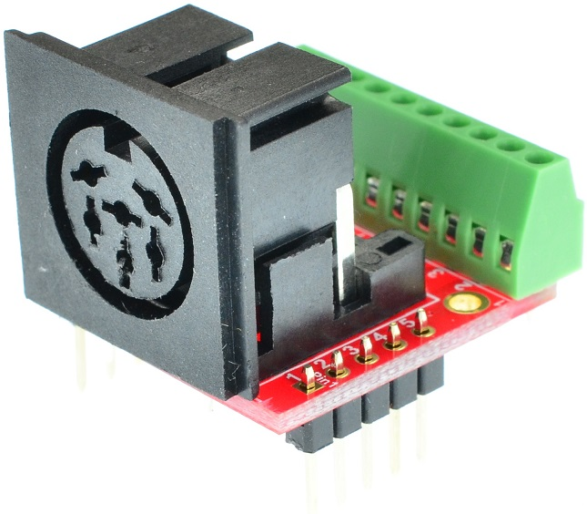 Din 6 Female connector Breakout Board