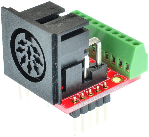 Din 8 MIDI Female connector Breakout Board