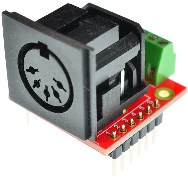Din 5 MIDI connector Female Breakout Board