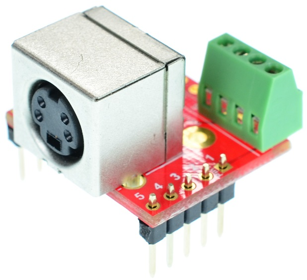 mini Din 4 Female connector Breakout Board