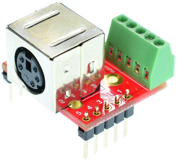 mini Din 5 Female connector Breakout Board