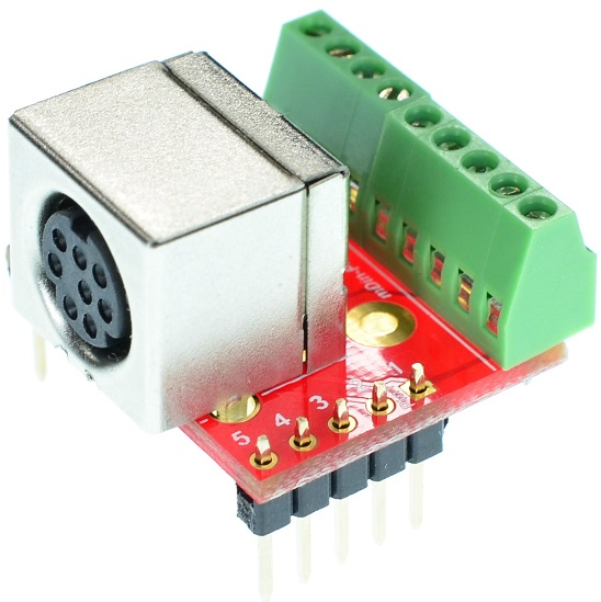 mini Din 8 Female connector Breakout Board