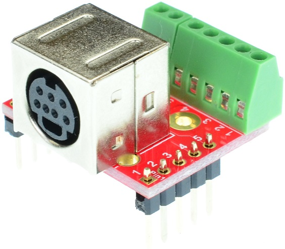 mini Din 7 Female connector Breakout Board