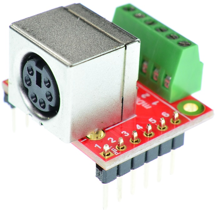 mini Din 6 PS/2 A7000 Mouse Keyboard Female connector Breakout Board