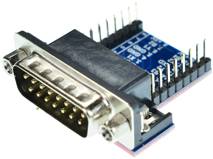 DB15 Male game port connector Breakout Board