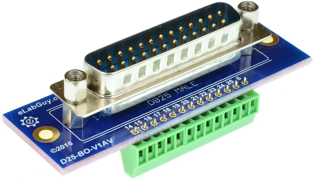 DB25 Male Printer Port vertical connector Breakout Board