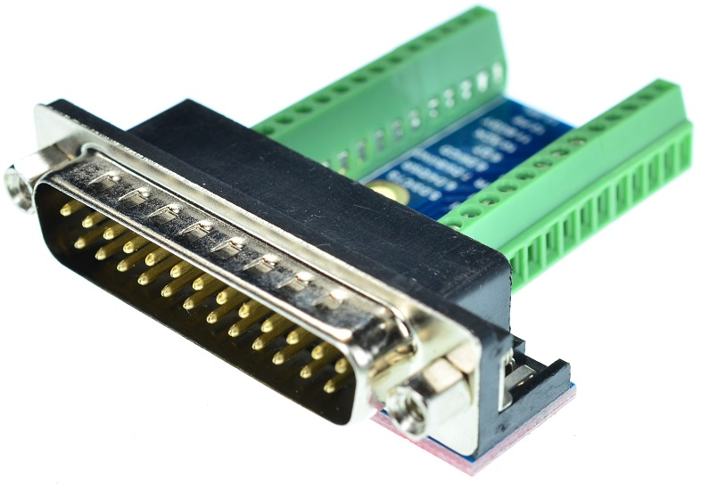 DB25 Male Printer Port connector Breakout Board