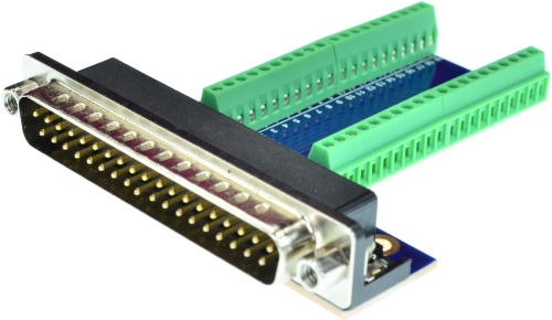 DB37 Male Connector Breakout Board