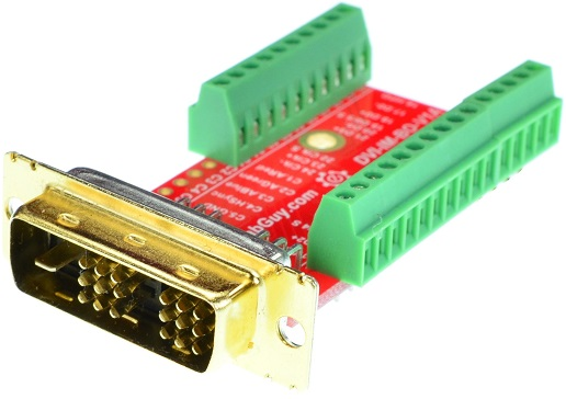 DVI-D Single Link Male connector Breakout Board