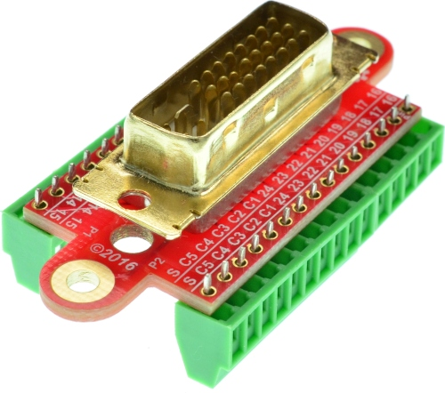 DVI-I Dual Link Male vertical connector Breakout Board Breakout Board