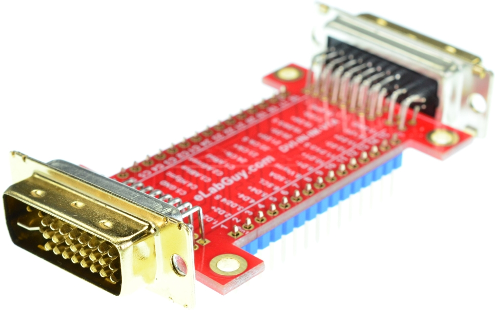 DVI-I Dual Link Female connector Breakout Board