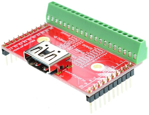 HDMI Type A Female connector Breakout Board elabguy