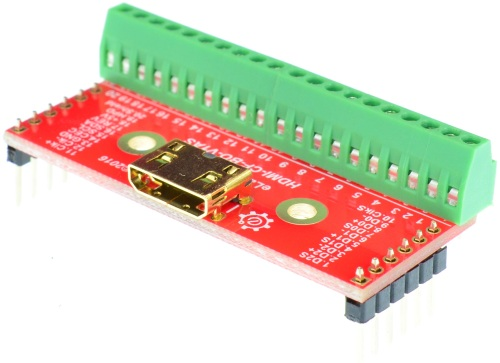 Mini HDMI Type C Female connector Breakout Board elabguy