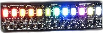 Surfacemount SMD LED bar graph with transistors switch