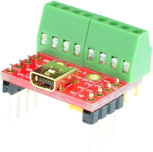 8-Pin Mini B USB 8-pin female Breakout Board