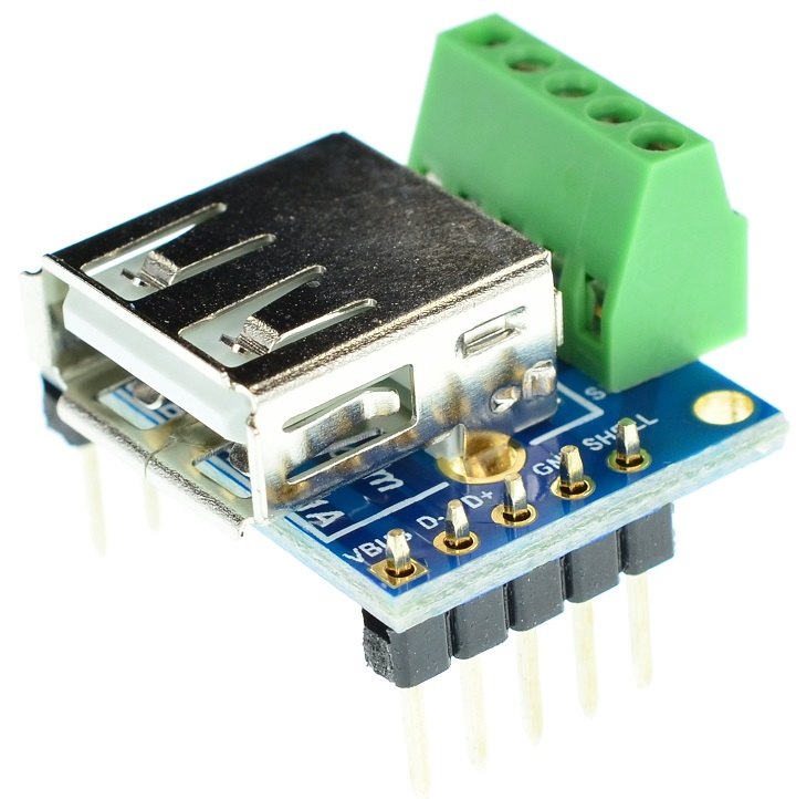 USB Type A Female connector Breakout Board