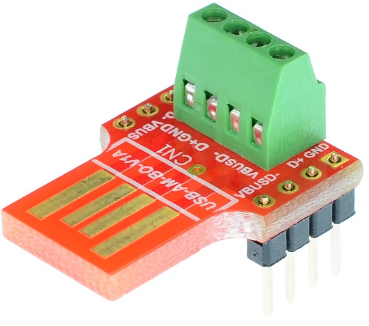 USB Type A Male Plug connector Breakout Board