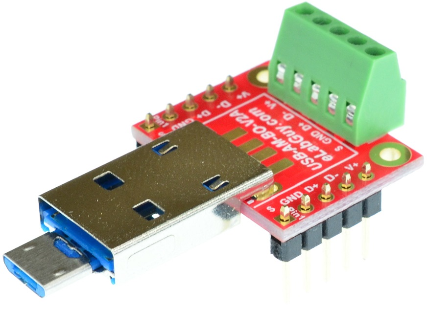 micro USB Type B Male USB Type A Male combo Breakout board