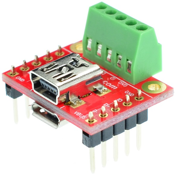 micro and Mini USB Type B Female Socket Breakout Board