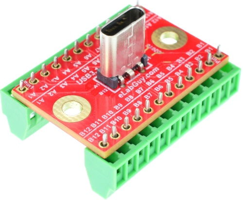 USB 3.1 Type C Breakout Board vertical