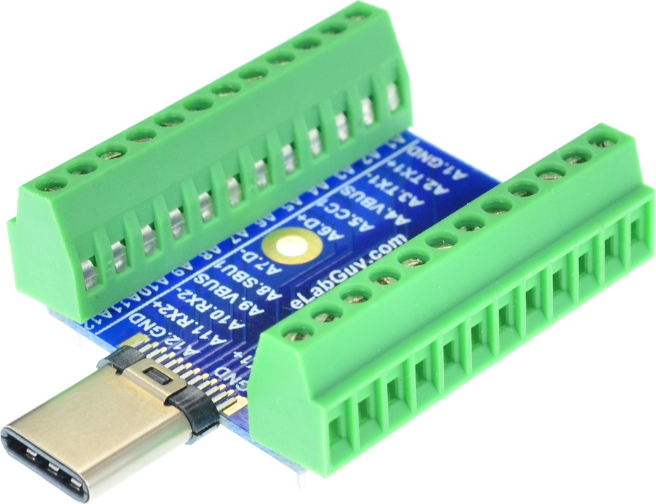 USB 3.1 Type C Male connector Breakout Board
